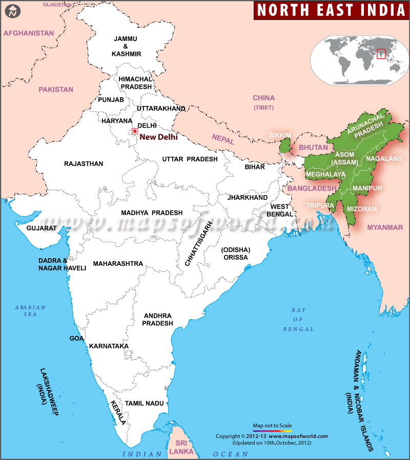 Last Letter From India Manipur Musings From Singapore - India religion map