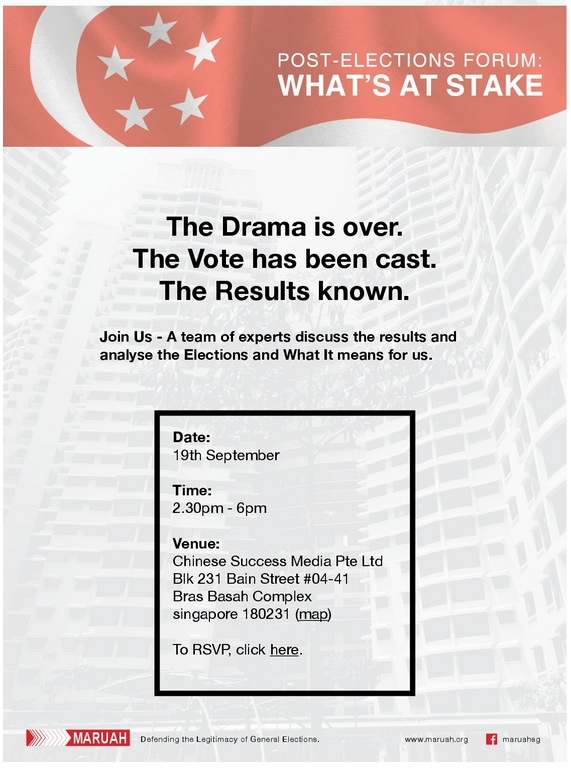 GE2015 panel discussion this Sat, Sep 19th « Musings from Singapore